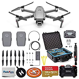 DJI Mavic 2 Pro Drone Quadcopter + DJI Intelligent Flight Battery + 128GB SD Card + Waterproof Rugged Travel Storage Hard Case + Landing Pad Double Sided Colors + Memory Card Case 51aVLggJO0L