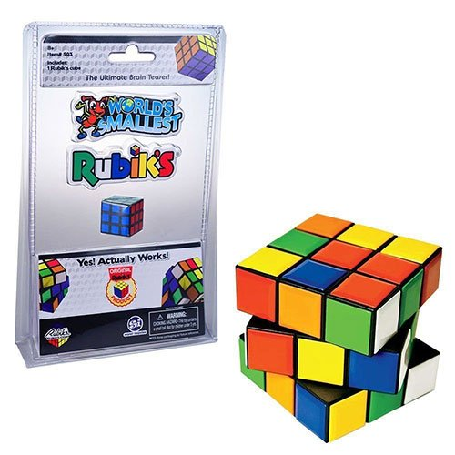 Brain Lube (Rubik's Cube Miniature Edition- Pocket Sized 3D Puzzle)
