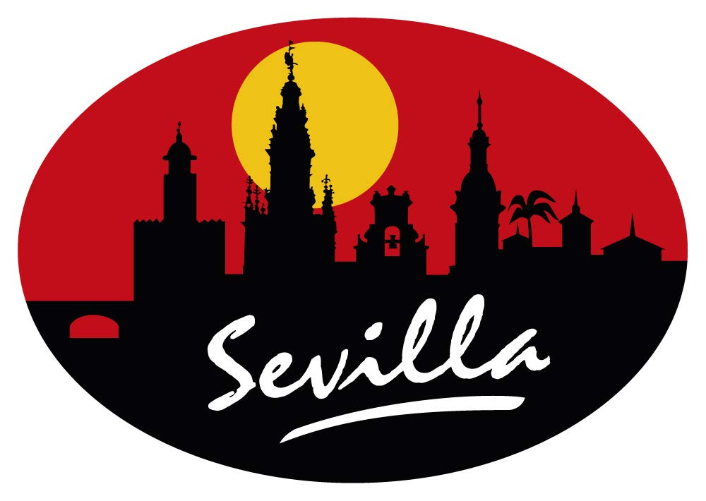 Sticker Oval Profil Sevilla