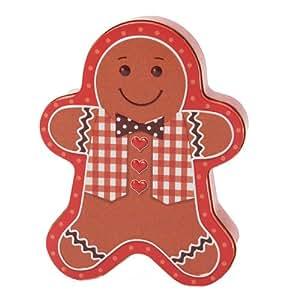 Enesco Silver Crane Gingerbread Man Tin, 9.75-Inch