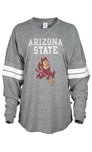 Official NCAA Arizona State University Sun Devils ASU FORK EM! Go Go Sparky Long Sleeve Tri- Blend Football Tee