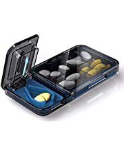 WOWHOUSE Portable Pill Organizer, Small Pill Box Medicine Supplement Pill Case, BPA Free Tritan Material