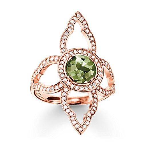 Thomas Sabo Glam & Soul, Femmes Bague, Argent sterling 925 ; plaqué or rose 18 carats
