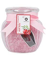 Organic Relaxation Bath Salts in Pomegranate and Grapefruit Scent. Pink Salts Make a Great Gift. Skin Detoxifying and Relaxing Sea Bath. Bath Salts Natural Aromatherapy and Essential Oils.
