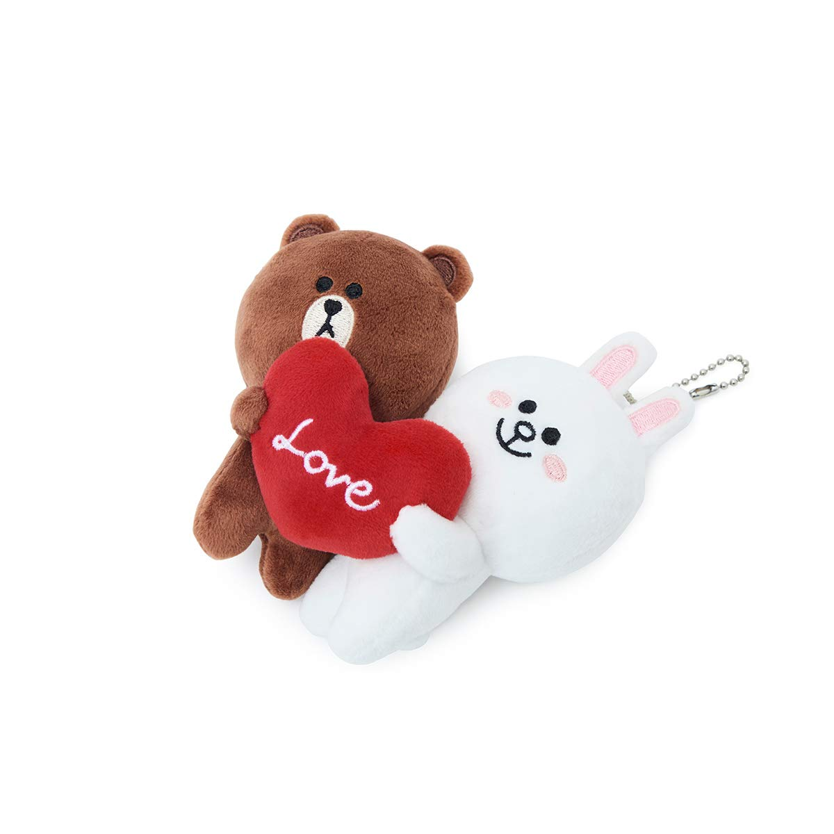 LINE FRIENDS Love Bag Charm - BF Character Keychain Décor 15CM, Brown/White by LINE FRIENDS (Image #7)