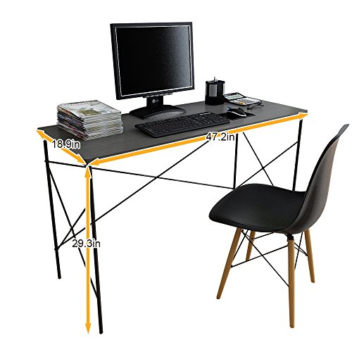 "Soges Computer Desk 47"" PC Desk Office Desk Workstation for Home Office Use Writing Table, Black JS252212"