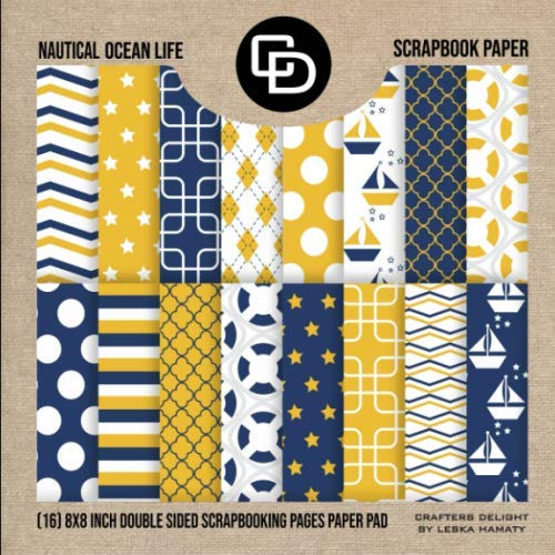 seawaves sailboat Digital Scrapbooking fish Digital Paper Pack: Nautical Yellow /& Gray patterns and backgrounds with anchor rudder