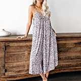 TOTOD Camisole Jumpsuit for Women Summer Sleeveless Strap Backless Loose Long Playsuits Elegant Rompers