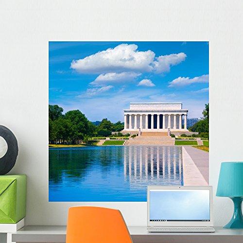 Wallmonkeys FOT-78718741-24 WM362516 Abraham Lincoln Memorial Reflection Pool Washington Peel and Stick Wall Decals H x 24 in W, 24