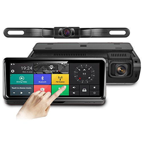 pruveeo fd800 android gps navigation fm bluetooth 7 touch screen backup camera dash cam. Black Bedroom Furniture Sets. Home Design Ideas