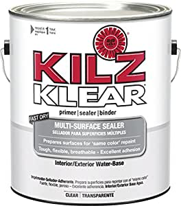 Kilz klear multi surface stain blocking interior exterior latex primer sealer clear for Kilz kilz 2 interior exterior latex primer