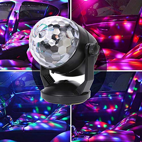 Nesee Portable Sound Activated Party Lights for Outdoor and Indoor, Battery Powered/USB Plug in, Strobe Lamp Stage Par Light for Car Room Dance Parties Birthday DJ Club