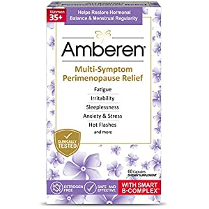Gut Health Shop 51aVOPRWCnL._SS300_ Amberen Peri: Safe Multi-Symptom Perimenopause Relief | Helps Restore Menstrual Regularity & Hormonal Balance | Relieves…
