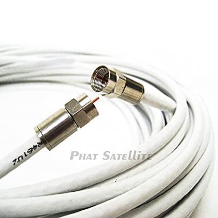 50ft RG6 Coaxial Cable *MADE IN USA* Shielded UL ETL CATV rated RoHS 75