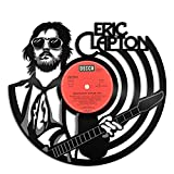 interesting home office ideas for women VinylShopUS - Eric Clapton Vinyl Wall Art Music Record Retro Musicians | Cool Gift Ideas for Men Women | Home Decoration Decor