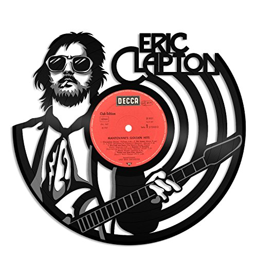 VinylShopUS - Eric Clapton Vinyl Wall Art Music Record Retro Musicians | Cool Gift Ideas for Men Women | Home Decoration Decor