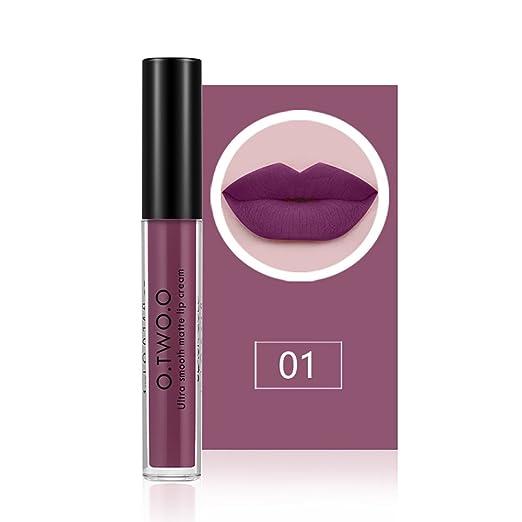 6 opinioni per O.TWO.O Lip Gloss lunga idratante idratante impermeabile Lipstick Lip Gloss 12