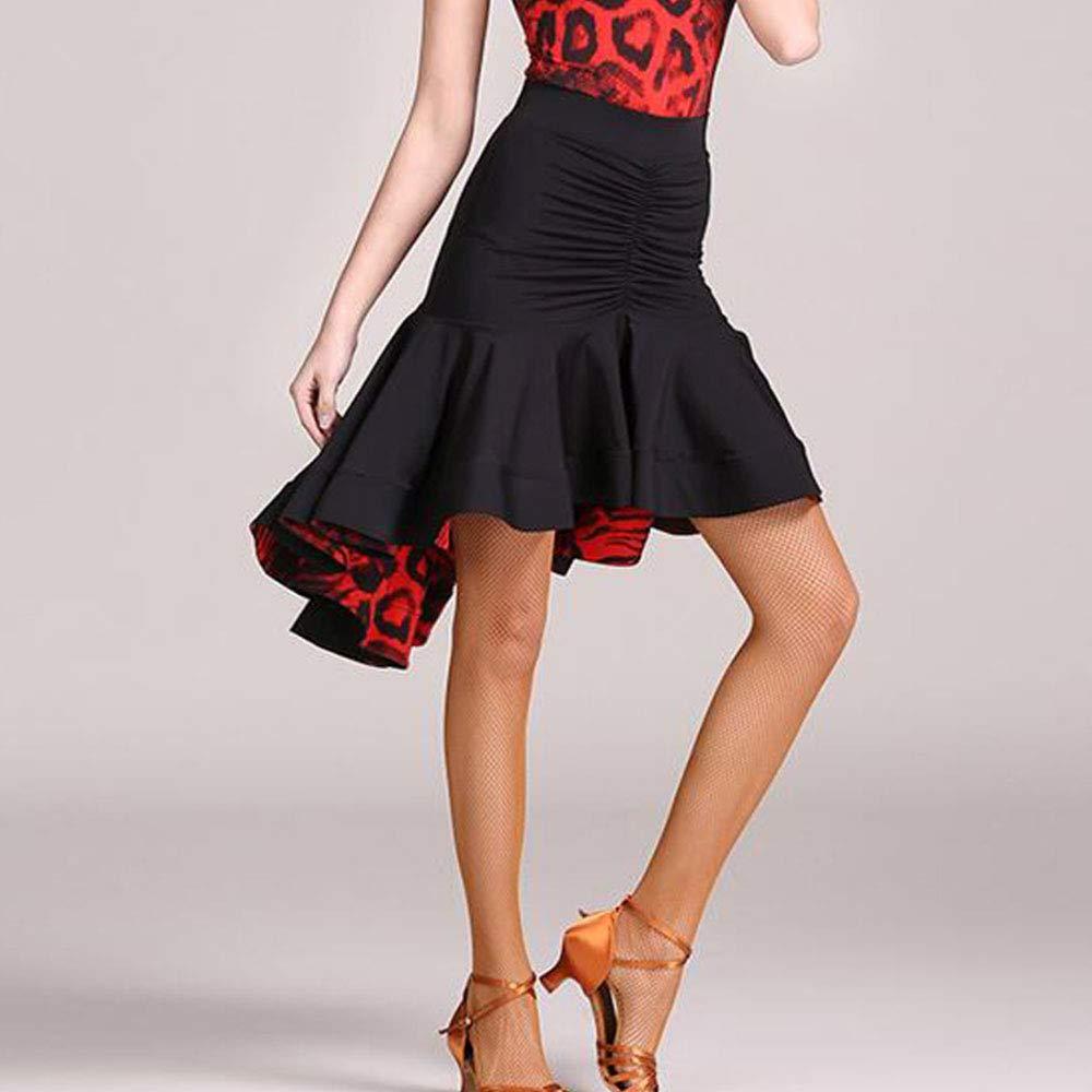 Zhen Lin Pratica Gonna Danza Disegni Originali Falbala Stampe Grano Leopardo Danza del Ventre Latino Costume Halloween Danza Lacy Maniche Lunghe Gonna Voluminoso di Grandi Dimensioni, S
