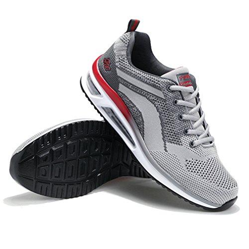 Bulle Textile Country Fitness Sneakers Homme Athlétique Tendance Gris de Chaussure D'Air Sport LFEU Formateur Course Chaussure Running de Léger Cross Xw4qW