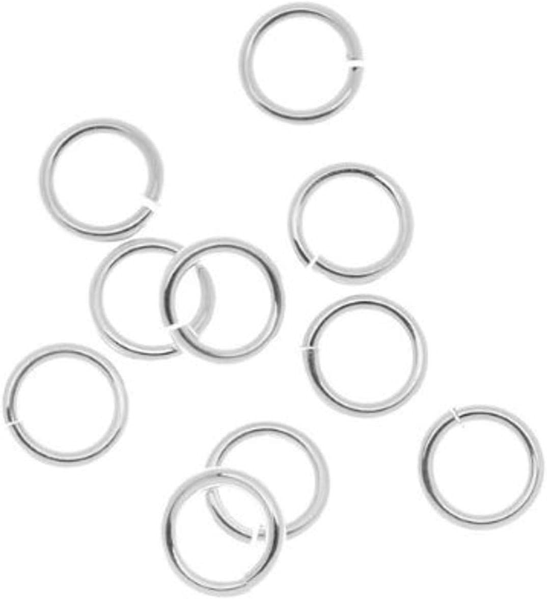 925 Sterling Silver Jump Rings Heavy Round Open 3mm 4mm 5mm 6mm 7mm 8mm 9mm 10mm