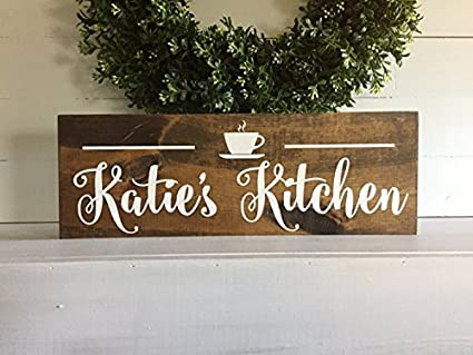 Amazon Com Personalized Kitchen Sign Coffee Cup Kitchen