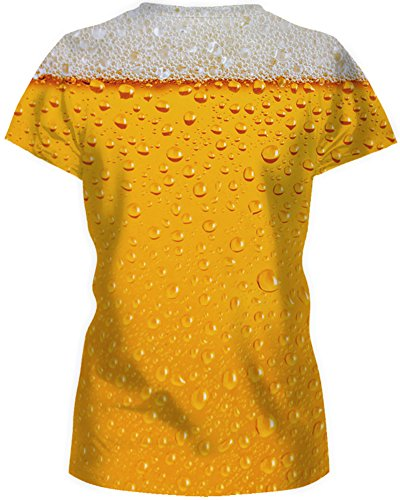 Corta Donna Magliette Emilyle T A Summer Divertenti shirts Galaxy Print Manica Birra Casual CdqvqBw
