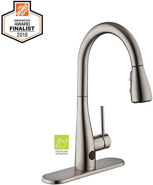Glacier Bay Nottely Touchless Single-Handle Pull-Down Sprayer Kitchen  Faucet in Stainless Steel
