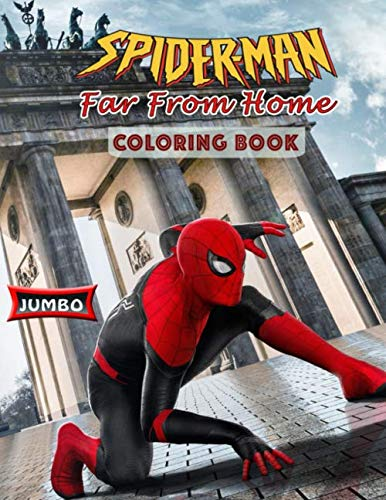 Spider-Man Far from Home Coloring Book: Spider Man 2019 Coloring Book With Exclusive Images]()