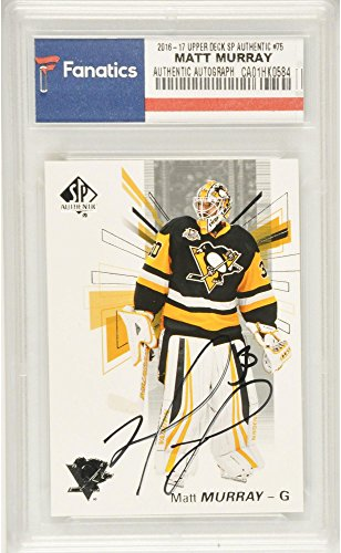 Matt Murray Pittsburgh Penguins Autographed 2016-17 Upper Deck SP Authentic #75 Card - Fanatics Authentic Certified (Penguins Upper Deck)