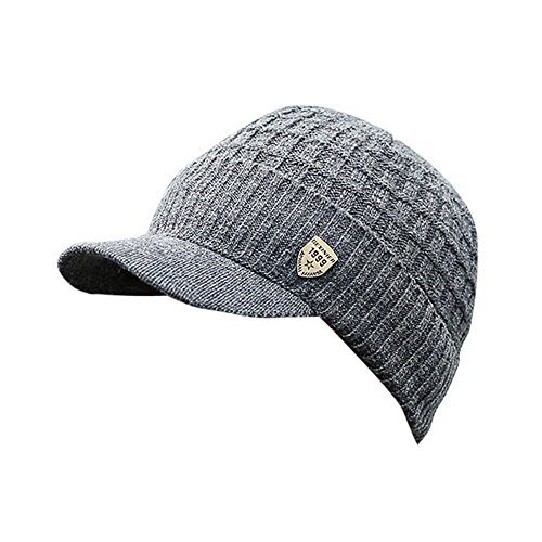 iLXHD Men Warm Baggy Weave Crochet Winter Wool Knit Ski Beanie Caps Hat
