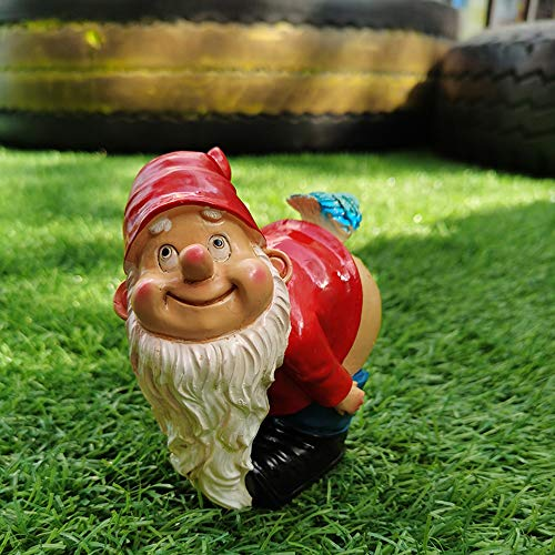 Bcamelys Garden Gnome Statue - Resin Gnome Figurine, Outdoor Winter Decorations for Indoor Outdoor Winter Decorations, Patio Yard Lawn Ornaments Gift