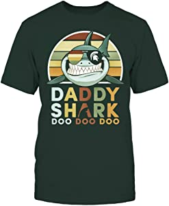 FanPrint Michigan State Spartans T-Shirt - Daddy Shark