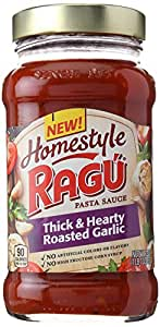 Ragu Homestyle Thick And Hearty Roasted Garlic, 23 oz