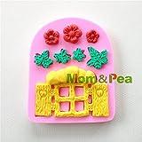 Star-Trade-Inc - 0913 Window Shaped Silicone Mold Cake Decoration Fondant Cake 3D Mold Food Grade