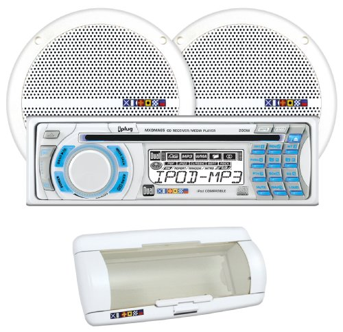 Dual MXCP65S1 Marine AM/FM/MP3/WMA CD receiver With (2) Pair 6.5-Inch Dual Cone Speaker 60 Watt Dual Cone Speakers