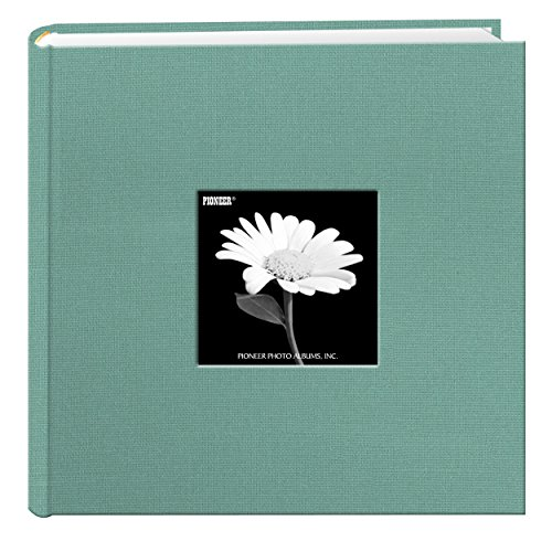 200 Pocket Album - Fabric Frame Cover Photo Album 200 Pockets Hold 4x6 Photos, Tranquil Aqua