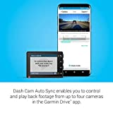 """Garmin Dash Cam 66W, Extra-Wide 180-Degree Field of View In 1440P HD, 2"""" LCD Screen and Voice Control, Very Compact with Automatic Incident Detection and Recording"""