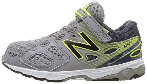 New Balance Boys' 680 V3 Running Shoe, Grey/Hi-Lite, 12 W US Little Kid Photo #5