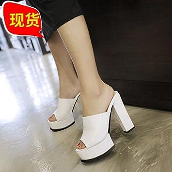 SCLOTHS Été Tongs Femme Chaussures Talon haut à fond épais épais avec étanche Black 9cm 5.5 US/35.5 EU/3/UK G4vaGVgvH