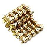 M-Aimee 100 Sets Magnetic Button Snaps 18mm - Great for Sewing, Craft, Purses, Bags, Clothes, Leather (Gold)