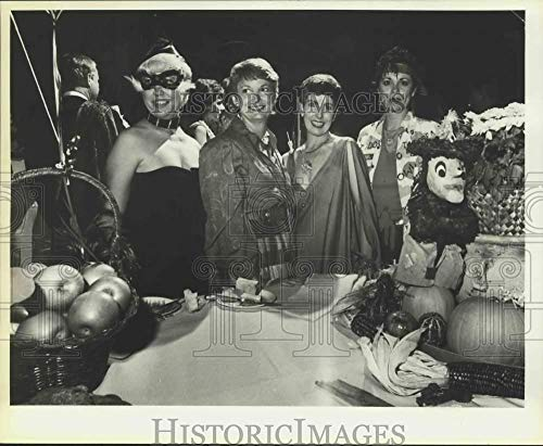 1983 Press Photo 'Almost Halloween' Party guests at home of Kay Sharp, Texas ()