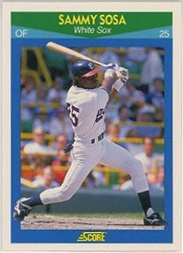 (1990 Score Rising Stars #35 Sammy Sosa NM-MT White Sox)