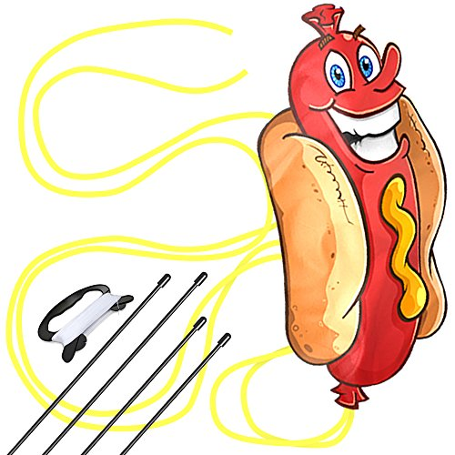 aGreatLife Huge Hotdog Kite: Best Kite for Kids and Adults with String, Spool and eBook