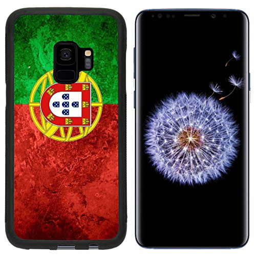 Liili Premium Samsung Galaxy S9 Aluminum Backplate Bumper Snap Case flag of Portugal or Portuguese banner on vintage metal texture 29483789 ()