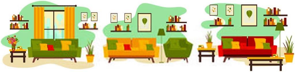 "DIY 5D Diamond Painting Kit of Living Room Furniture Tv Table Shelves Books Flowers Floor Lamp Cartoon 14"" X 20"" Adult Children Full Drill Rhinestone Cross Stitch Art Crafts for Home Decoration"