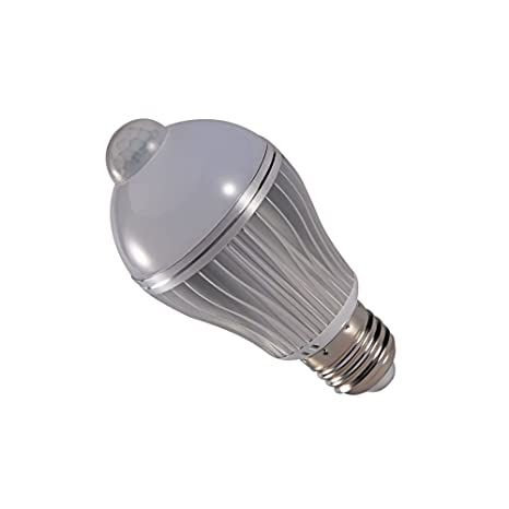 LJY - Bombilla LED, casquillo E27, 7 W, sensor de movimiento por infrarrojos