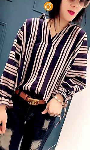 bleu Bar L Xuanku Les Adolescentes De La Rue Van LÂche Chemise Femme Taille Plus Importante