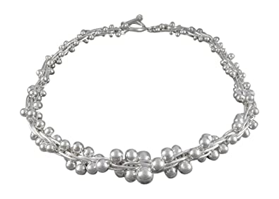 129196139 Handmade Silver Peppercorn Chunky Statement Necklace with Free Gift ...