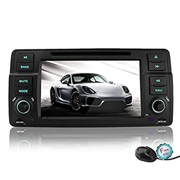 YINUO Andriod 4.4.4 radio con pantalla táctil 1din for BMW 3 ...