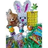 Easter Basket Bundle for All Ages! Chocolate Scented Plush Easter Bunny, Solar Easter Animals, Peeps & More! by Unknown